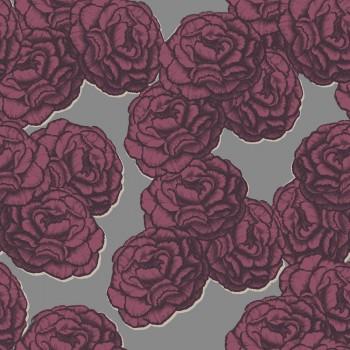 Blumentapete Rot-Violett Muster Tenue de Ville BALSAM 62-BLS200506