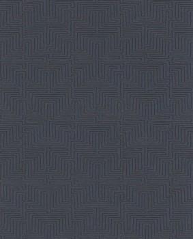55-376069 Eijffinger Siroc dunkel-blau Vlies-Tapete Labyrinth
