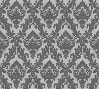 Velourtapete AS Creation Castello 33582-3, 335823 silber-grau Ornamente klein