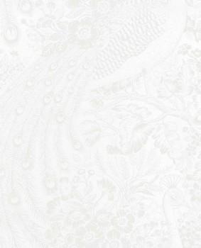 Reflect Eijffinger 55-378001 white silver peacock shining non-woven wallpaper