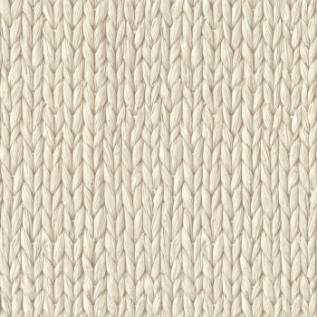 Boho Chic Rasch Textil 23-148699 Tapete Flechtmuster hellelfenbein