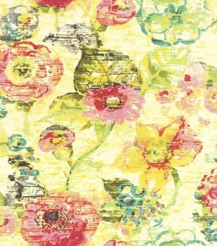 Lucy in the Sky 7-803716 Rasch Vliestapete gelb Blumen