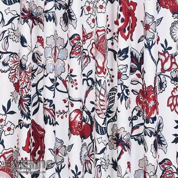 23-810188 Strictly Stripes Blumen cremeweiß Dekostoff Wohnzimmer