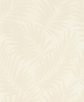 7-527537 Rasch BARBARA home Vliestapete creme-weiß Blätter glänzend
