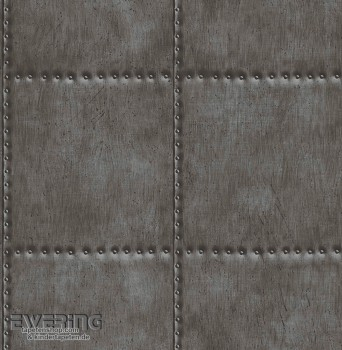 Rasch Textil Reclaimed 23-022342 Vliestapete Stahlplatten schwarz