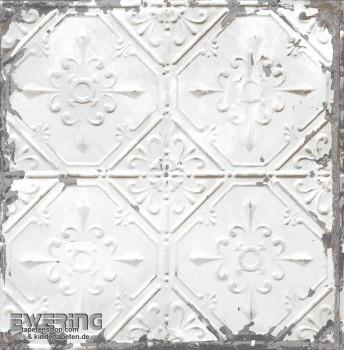 23-022305 Reclaimed Rasch Textil Mustertapete Vliesträger weiß