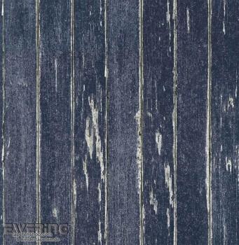 Strictly Stripes 23-362281 Holzoptik Jeans-Blau Vinyltapete
